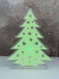Christmas tree tea light holder flameless tea light holder