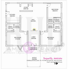 1600 Square Feet House With Floor Plan Sketch Indian Plans. Owl Home Decor.  Primitive