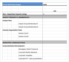 Marketing Budget Template  Using The Marketing Budget Template To