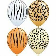 Safari Animal Print Party Assorted Latex Balloons  : The Party Cupboard | The Party Cupboard