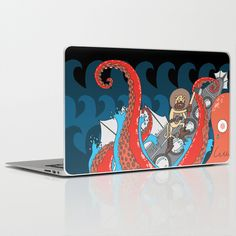 leagues under the sea Laptop & iPad Skin by adrianserghie Leagues Under The Sea, Laptop Skin, Ipad