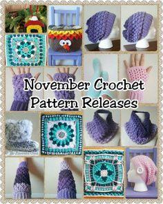 November 2016 Crochet Pattern Releases - The Lavender Chair Crochet Wool, Crochet Round, Love Crochet, Crochet Gifts, Vintage Crochet, Crochet Stitches, Crochet Gloves, Crochet Squares, Crochet Decoration