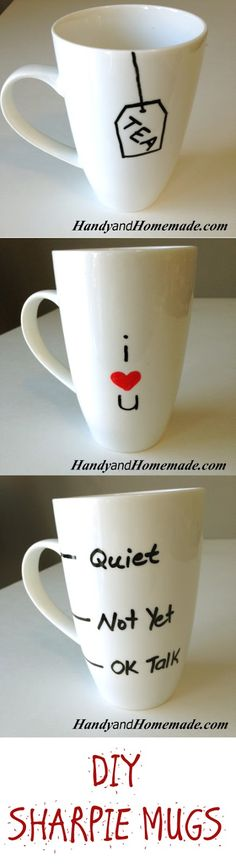 How To Make Sharpie Mugs DIY                              …
