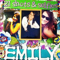 21 shots and selfies