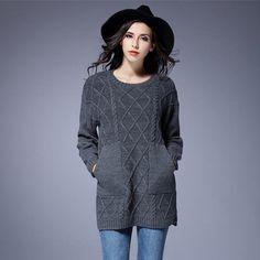 Grey Loose Chunky Sweater