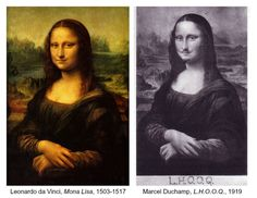 The Art Curator for Kids - Art About Art History - Mona Lisa by da Vinci and L.H.O.O.Q. by Duchamp