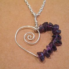 Amethyst Spiral Heart jewelry-making