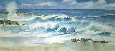 "Surf's Up Watercolor	Image Size 14"" x 30""	$1500"