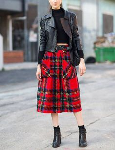 The Best Plaid Outfits to Try This Fall via @PureWow