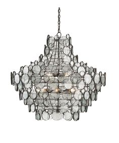 $7,990.00. Currey and Company 9520 Galahad 43 Inch Chandelier Shown in Bronze finish