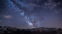 milky way stars mountains night germany bavaria sky backgrounds 1920x1080