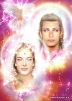 Amazon.com - Orion & Angelica - Elohim of the 3rd Ray - Twin Flames - 5 x 7 Laminated Image - Prints