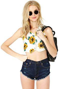 Sunny Side Crop Vest