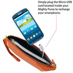 The Mighty Purse which charges your phone Any phone or e-reader.