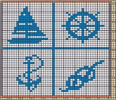 Ravelry: Potholder Maritime Motifs pattern by Regina Schoenfeldt