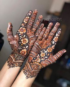 Mehndi Designs Front Hand, Indian Henna Designs, Stylish Mehndi Designs, Latest Bridal Mehndi Designs, Full Hand Mehndi Designs, Mehndi Designs For Beginners, Wedding Mehndi Designs, Latest Mehndi Designs, Palm Mehndi Design