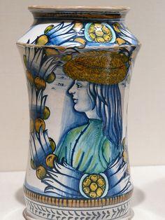 Pharmacy Jar (albarello) Maiolica Deruta about 1510 CE  #TuscanyAgriturismoGiratola