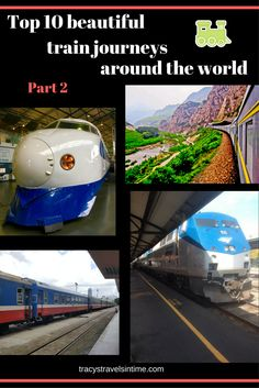 Part 2 of my top 10 rail journeys to take around the world - includes the Trans-Monglian/Trans-Siberian, Rocky Mountaineer in Canada, Coast Starlight in the USA, Reunification Express in Vietnam and the Bullet Train in Japan