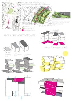 tipologia 4 idea Social Housing Architecture, Architecture Board, Sustainable Architecture, Architecture Details, Urban Design Concept, Architecture Concept Drawings, Mix Use Building, Plan Drawing, Design Process