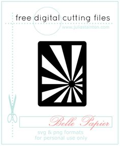Free Digital Cutting File in SVG and PNG formats - the Sunray Journaling Card Cutting file by Julia Stainton