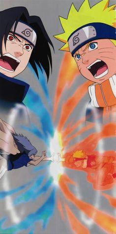 Sasuke e Naruto Naruto Vs Sasuke, Naruto Uzumaki Hokage, Pain Naruto, Sakura And Sasuke, Naruto Shippuden Anime, Anime Naruto, Cool Anime Pictures, Naruto Pictures, Naruto Pics