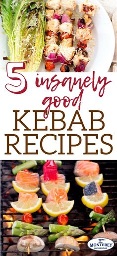 Warm weather means it's time for grilling recipes! Break out the skewers and load 'em up - these 5 tasty kebab recipes are the ultimate backyard barbecue food. Healthy Cooking, Healthy Dinner Recipes, Great Recipes, Simple Recipes, Kebab Recipes, Seafood Recipes, Snack Recipes, Best Mushroom Recipe, Mushroom Recipes