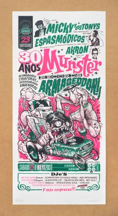 MUNSTER RECORDS ARMAGEDDON Fiesta 30 poster by MIK BARO