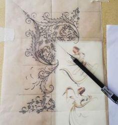 by stephanii Arabic Art, Stencil Painting, Oriental Art, Beautiful Calligraphy, Islamic Art Pattern, Illuminated Manuscript, Art, Design Art, Pattern Art