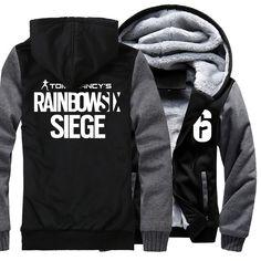 Игра Tom Clancy's Rainbow Six Siege кофты Для мужчин 2018 зима Флисовые толстовки мальчиков брендовая одежда уличной хип хоп с капюшономкупить в магазине NOTAG StoreнаAliExpress