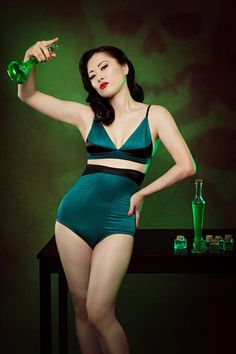 Kiss Me Deadly: Kiss Me Deadly is an elegant, limited-edition pin up, burlesque and vintage-inspired retro lingerie brand based in Sheffield, London.