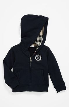 Burberry 'Hyde' Zip Hoodie (Baby Boys) available at #Nordstrom