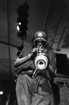 Guy Le Querrec Miles Davis at the Halle de Gillette in Paris,1985