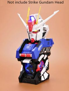 BTF model Cockpit parts for BTF 1/24 GAT-X 105 Strike Gundam Head Bust Portrait