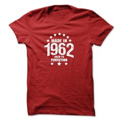 Made in 1962 Aged To Perfection AGE T-Shirts, Hoodies. ADD TO CART ==► https://www.sunfrog.com/Birth-Years/Made-in-1962-Aged-To-Perfection-AGE-t-shirt.html?id=41382