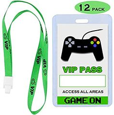 Let's Party – Gaming – Building Our Happily Ever After Video Game Party Supplies VIP Pass Tickets, Gamer Party VIP Pass Lanyards, Cards and Card Holders for Kids Gaming Themed Birthday Party Favors Supplies Decorations PACK) Birthday Party Games For Kids, Sleepover Birthday Parties, Birthday Party Invitations, Birthday Party Themes, Game Truck Party, Teepee Party, Video Game Party, Game Themes, Video Games For Kids