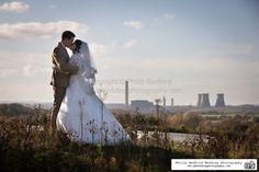 #Bride & #Groom @EarthTrust in Oxfordshire, overlooking Didcot Power Station