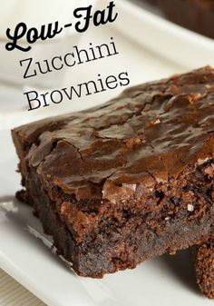 Low-Fat Zucchini Brownie – Healthy To Fit