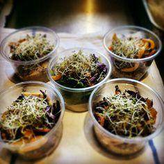 Vegan salad pots for yoga retreat in may