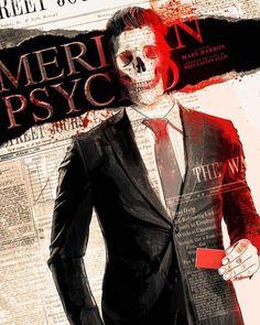 Horror Movie Posters, Horror Movies, American Psycho, Pop Culture Art, Joker, Fan Art, Artist, Fictional Characters, Film Poster