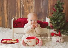 dayton ohio baby photographer christmas mini sessions milk and cookies 1