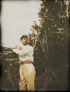Tsar Nicholas II Romanov of Russia, chilling a bit in the summer.