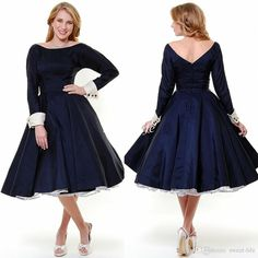 2015 Black Plus Size Mother of the Bride Groom Dresses with Long Sleeve Tea Length Taffeta Jewel Custom Made Cheap Formal Evening Dresses Online with $87.08/Piece on Sweet-life's Store   DHgate.com
