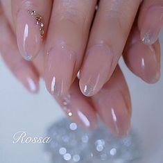 ネイル ネイル in 2020 Wow Nails, Pink Nails, Cute Nails, Pretty Nails, Gorgeous Nails, Asian Nail Art, Asian Nails, Bride Nails, Wedding Nails