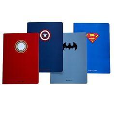 Superman Batman Captain America Ironman Notebook Journal Writing Book Stationery