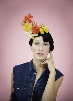 fumbalinas - SS14 floral headpiece #floral #headpiece #headdress #fashion #festival #ascot