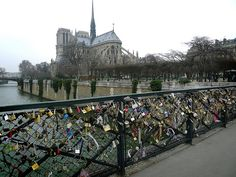 Love Locks in Paris - along the Seine