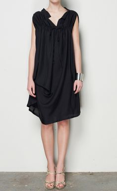 Ann Demeulemeester Black Dress