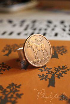 moose tales. vintage 5 ore norge norway coin di phairytale su Etsy