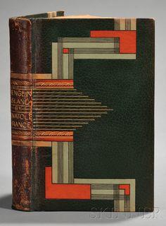 Decorative Binding, Gruel), France, Anatole (1844-1924), Penguin Island, London: John Lane The Bodley Head Ltd., 1929