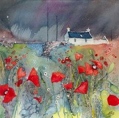 Oh my, I just love this. Miriam Smith Poppies in the Rain — Beauly Gallery